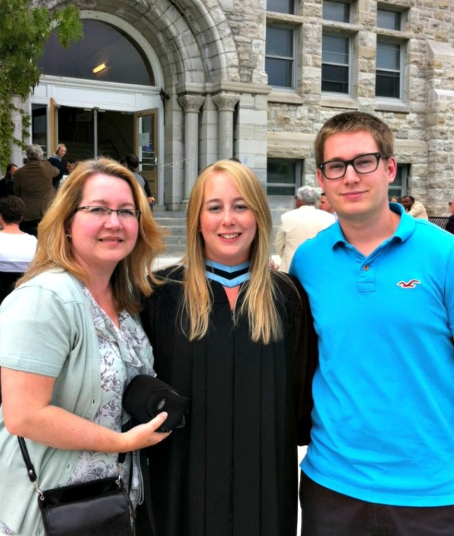 My mom, brother and I at my graduation from Queen's University.