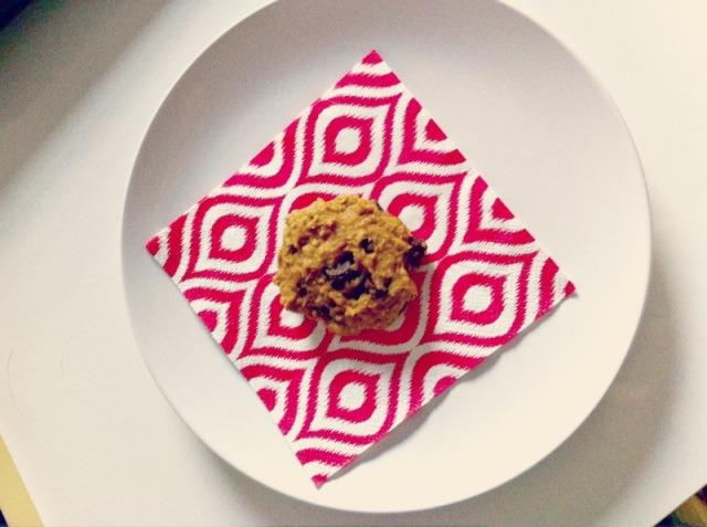 pumpkin oat cookie