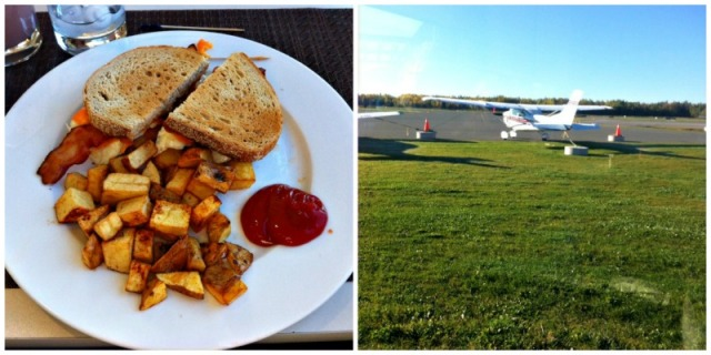 airport breakfast trip