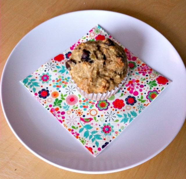 bannana choc muffin